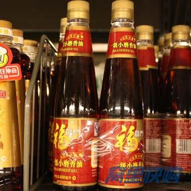 福临门一级水代法小磨香油400ml 2瓶图片