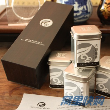 2011龙井明前茶一级条形木茶叶礼盒