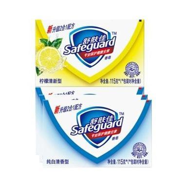 舒肤佳香皂3纯白 1柠檬115g*4盒 6956