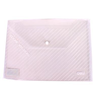 【公文袋】得力透明丝印按扣公文袋A4(白)55012