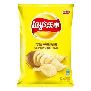 乐事薯片美国经典原味 70g/袋 9211