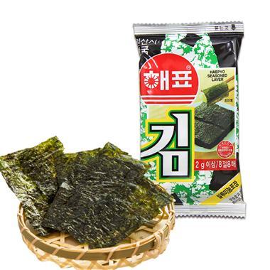 【韩国】海牌海苔原味2g*8包/组 0027