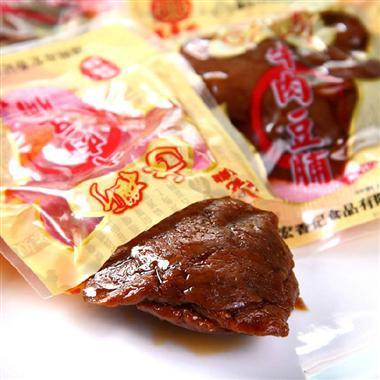 (散装)宏香记牛肉手撕豆脯香辣味250g/袋  20095