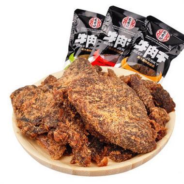 (散装)宏香记沙爹味牛肉干  4包/组  20092