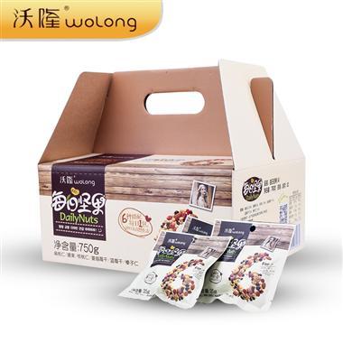 沃隆每日坚果A款原味混合坚果仁25g*30包/盒  成人款 0330