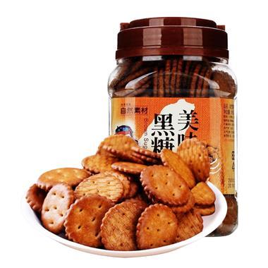 【台湾】自然素材美味黑糖饼365g/罐 3627