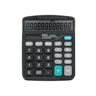 【计算机】得力桌面型计算器 8377