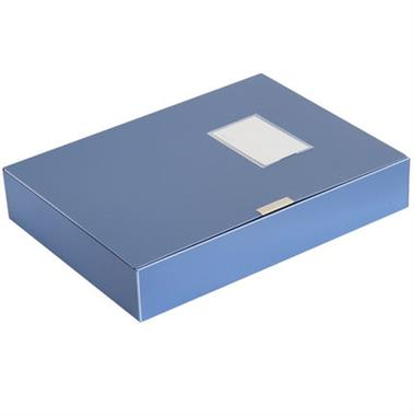 【档案盒】得力3寸粘扣档案盒 蓝色 56033