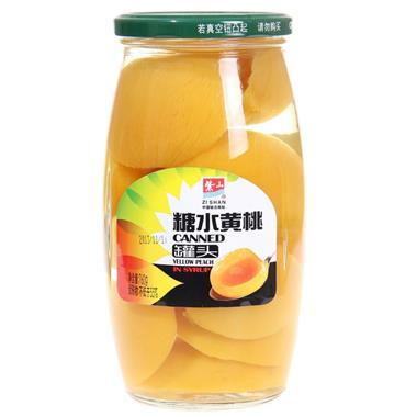 紫山糖水黄桃罐头 760g/瓶 0032