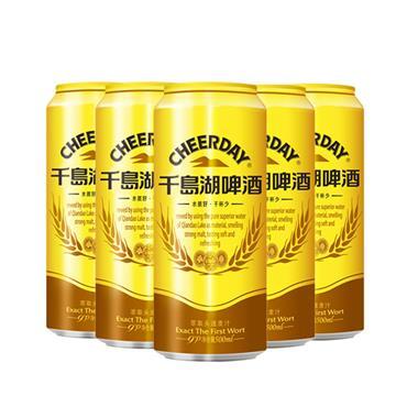 金罐9度千岛湖啤酒 500ml*6罐/组 1837