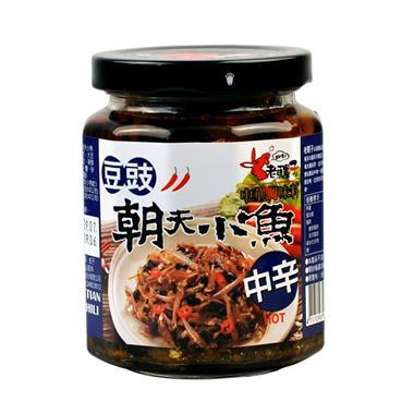 【台湾】老骡子豆豉朝天小鱼240g/瓶 0232