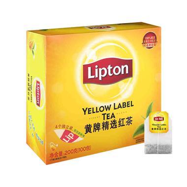 立顿(Lipton)黄牌精选红茶S100 2g*100包 0968