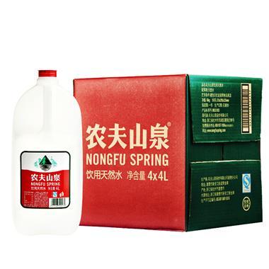 农夫山泉天然饮用水 4L*4桶/箱 2517