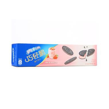 奥利奥巧轻脆薄片夹心清新草莓酸奶味95g/盒 4956
