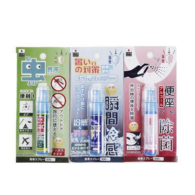 【日本】浪漫樱花便携喷雾三件套(驱虫+冷感+除菌)12ml*3瓶/组