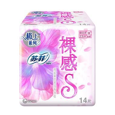 苏菲 裸感S 日用卫生巾 23cm 14片/包 2163