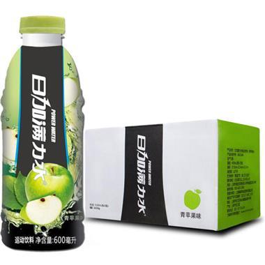 日加满 力水青苹果味运动饮料 600ml*15瓶/箱 0269