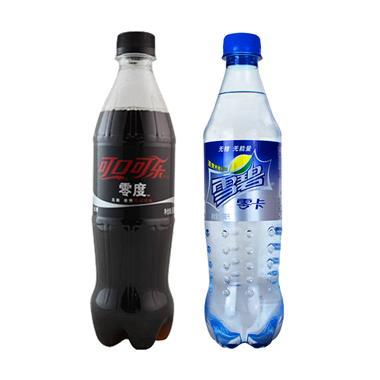 零度可口可乐500ml+零卡雪碧500ml 各1瓶