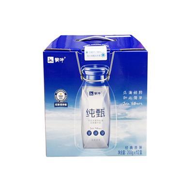 蒙牛纯甄酸牛奶200g*12盒/箱8595