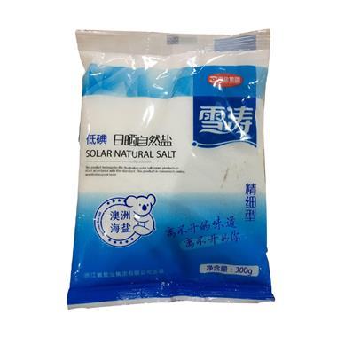浙江雪涛低碘精细型日晒自然盐 300g/袋 7287 / 1954