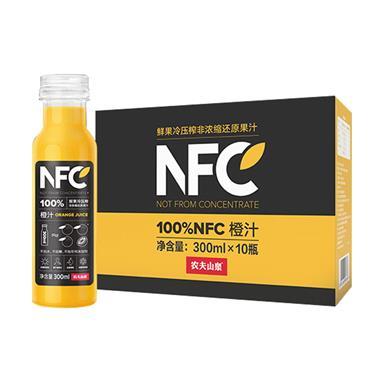 农夫山泉100%NFC橙汁 300mlx10瓶/提 3866