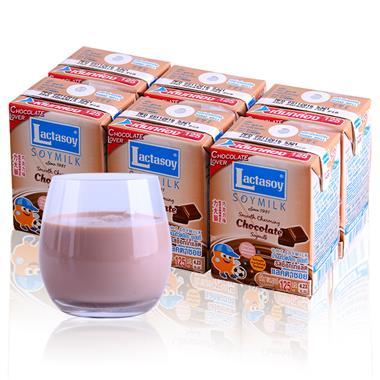 【泰国】力大狮巧克力味豆奶125ml*6盒/组 7636