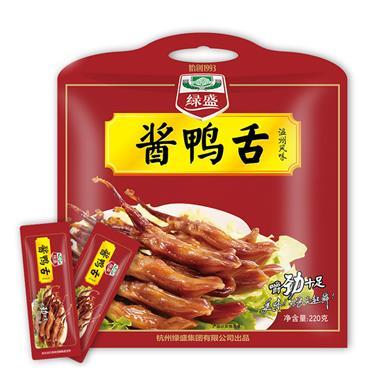 绿盛百卤坊酱鸭舌 220g/包 0150