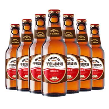 千岛湖精酿原浆啤酒 拉环盖420ml*12瓶 2407