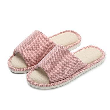 朴西新款韩版防滑软底亚麻拖鞋(红色37-38)MY3502