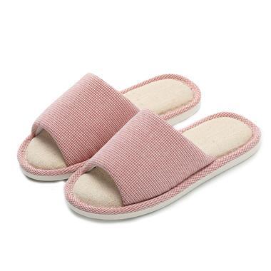 朴西新款韩版防滑软底亚麻拖鞋(红色39-40)MY3502