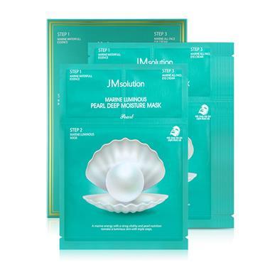 【韩国】JM肌司研海洋珍珠玻尿酸水光三部曲面膜30g*10片/盒 1764