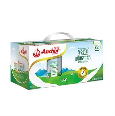 【新西兰】Anchor安佳轻欣脱脂牛奶250ml*10盒/提 8504