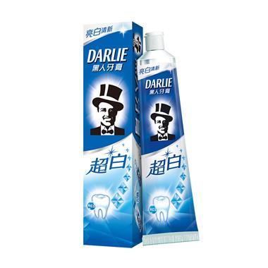 黑人超白亮白动力牙膏 190g/支   0528