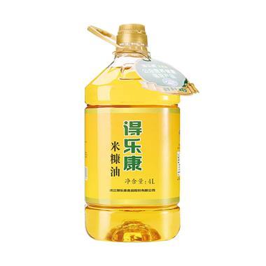 【米糠油】得乐康非转基因二级米糠油 4L/桶 00394