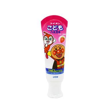 【日本】狮王LION面包超人儿童牙膏草莓味40g/支 95301