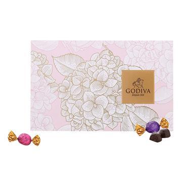 【美国】歌帝梵繁花似锦松露形巧克力礼盒8颗装75g/盒 5025