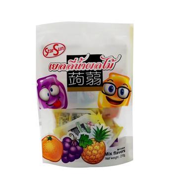 【泰国】StarSun橙+葡萄+菠萝可吸果冻210g/袋 01505